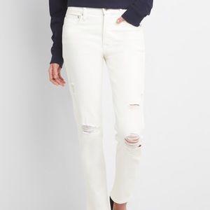 Gap High Rise Slim Straight distressed Jeans